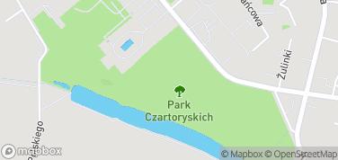 Park Czartoryskich – mapa