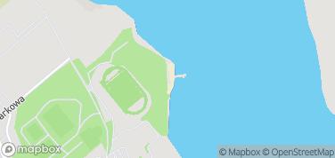 Plaża miejska i molo w Olecku – mapa