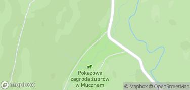 Zagroda Pokazowa Żubrów – mapa