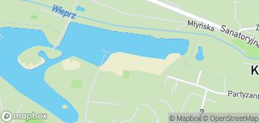 Plaża nad Zalewem w Krasnobrodzie – mapa