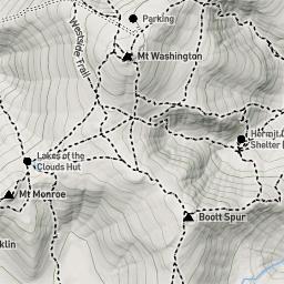 Jewell Trail Mt Washington Map.Mt Washington Nh 4000 Hiking Conditions