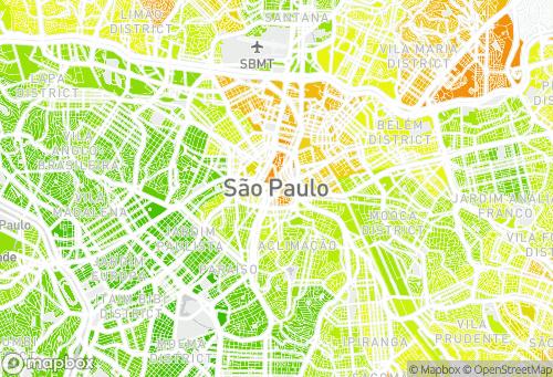 Mapa IDH dos bairros de São Paulo-SP