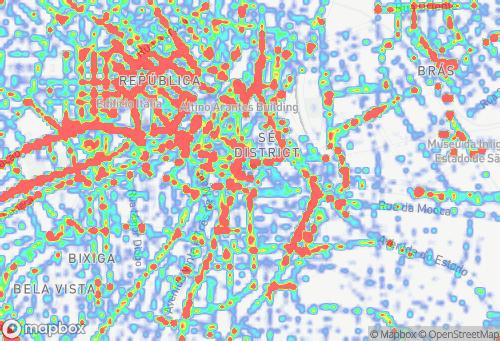 Mapa Roubos e Furtos de Celular em São Paulo-SP (2016 a 2018)
