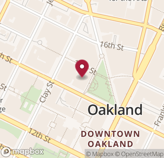 Map showing location of next Open Oakland event