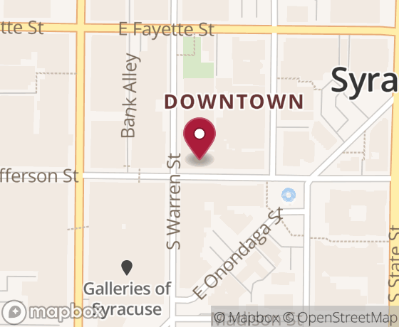 Map showing location of next Code for Syracuse event