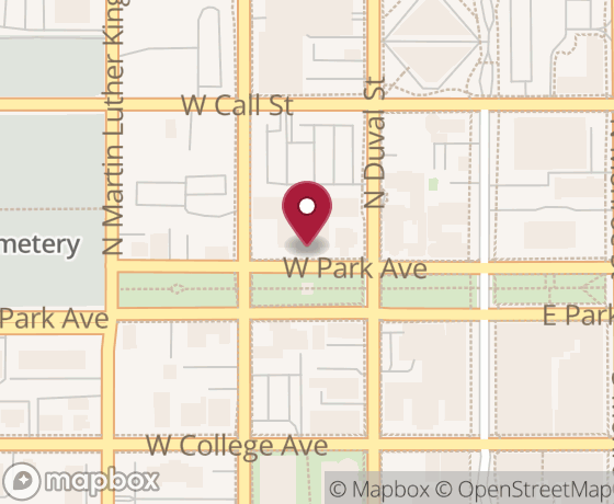 Map showing location of next Code for Tallahassee event
