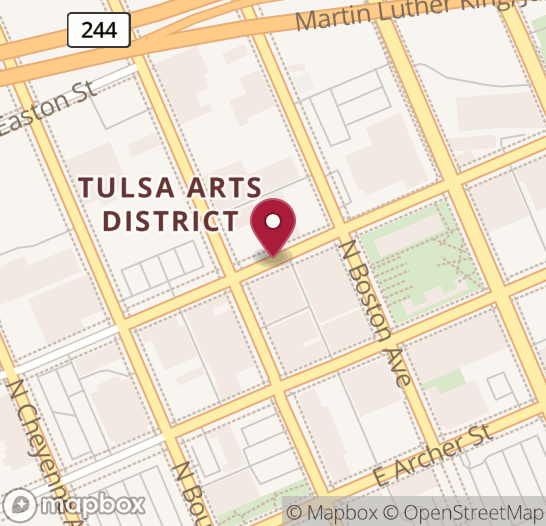 Map showing location of next Code for Tulsa event