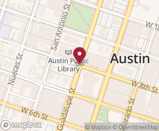 Map showing location of next Open Austin event