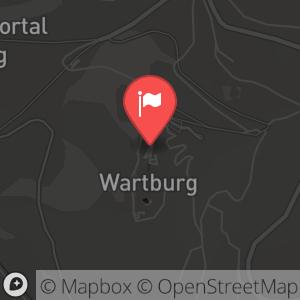 Landkarte/Stadtplan für: Neujahrsgottesdienst 2010/ 2011 | Auf der Wartburg, 99817 Eisenach