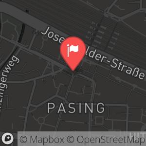 Landkarte/Stadtplan für: Die große ALEX Silvesterparty 2013/2014 in den Pasing Arcaden München! | Pasinger Bahnhofsplatz 6, 81241 München
