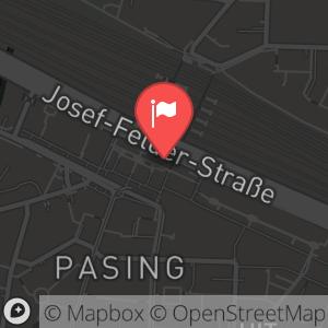 Landkarte/Stadtplan für: Die große ALEX-Silvesterparty  | Pasinger Bahnhofsplatz 6, 81241  München