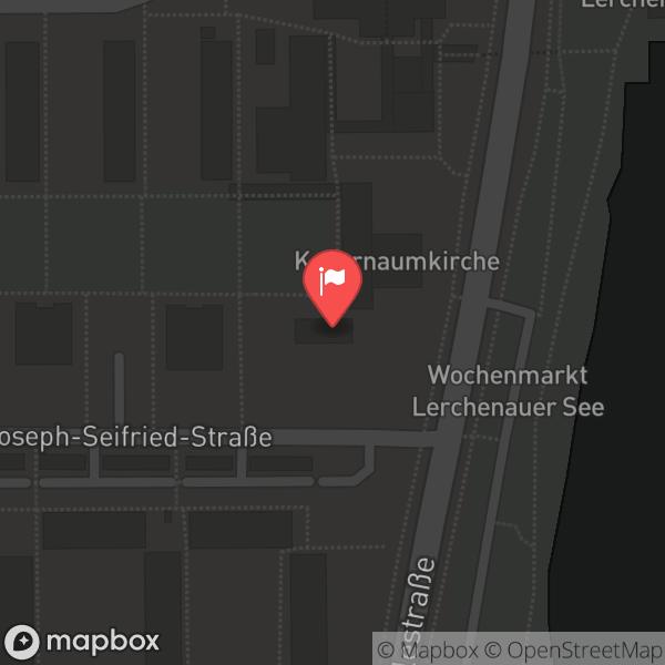 Landkarte/Stadtplan für: Kapernaumkirche München | Joseph Seifried Strasse 27, 80995 München