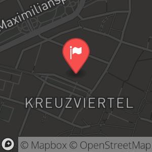 Landkarte/Stadtplan für: Bayerische Gemütlichkeit im Palais Keller 2012/2013 | Promenadenplatz 2-6, 80333 München