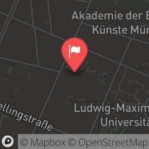 Landkarte/Stadtplan für: Silvesterrevue 2010/ 2011 - Ehekracher | Türkenstraße 86, 80799 München
