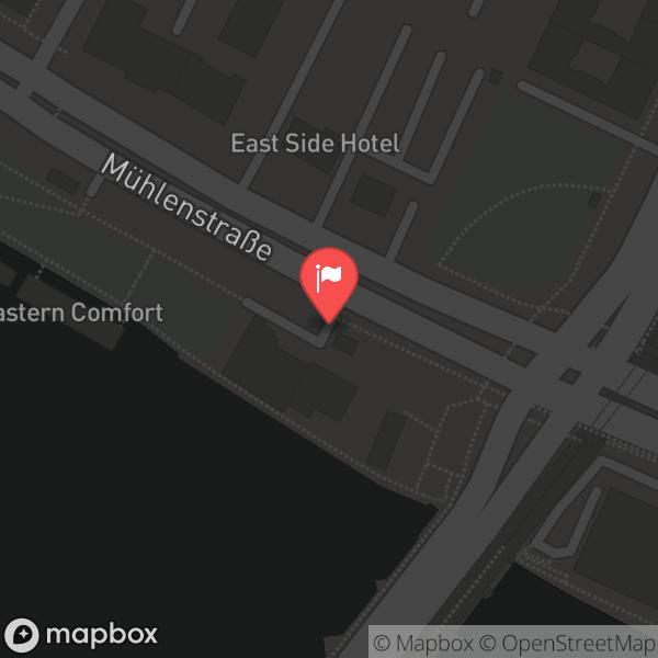Landkarte/Stadtplan für: Pirates Berlin | Mühlenstraße 78, 10243 Berlin