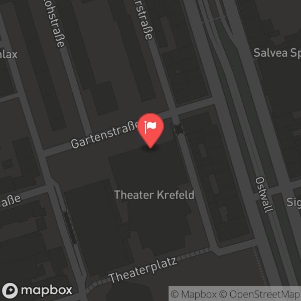 Landkarte/Stadtplan für: Theater Krefeld/ Mönchengladbach   Theaterplatz 3, 47798 Krefeld