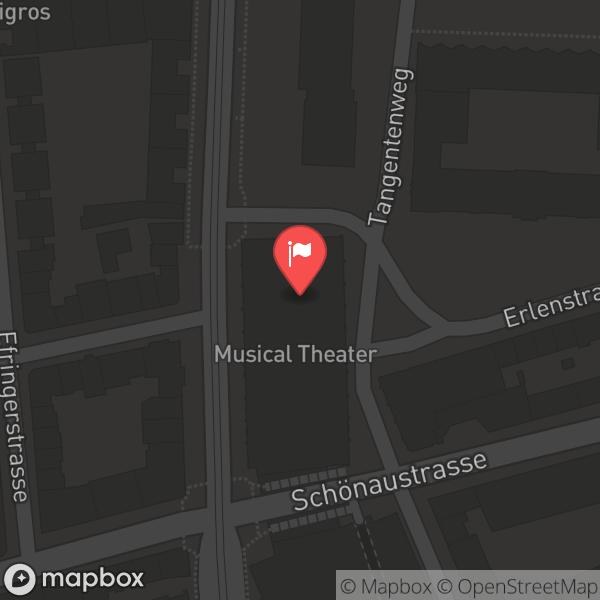 Landkarte/Stadtplan für: Musical Theater Basel | Feldbergstrasse 151, 4058 Basel