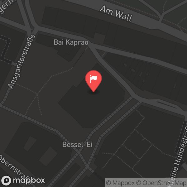Landkarte/Stadtplan für: ALEX Bremen Hanseatenhof | Hanseatenhof 1, 28195 Bremen