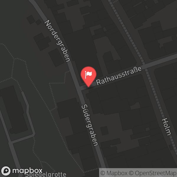 Landkarte/Stadtplan für: Landestheater Schleswig-Holstein | Rathausstraße 22, 24937 Flensburg