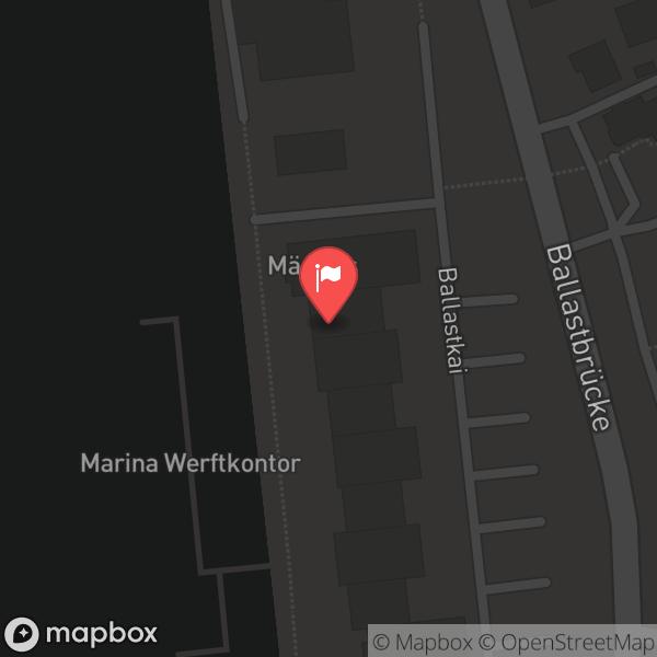 Landkarte/Stadtplan für: Mäder's | Ballastkai 9, 24937 Flensburg
