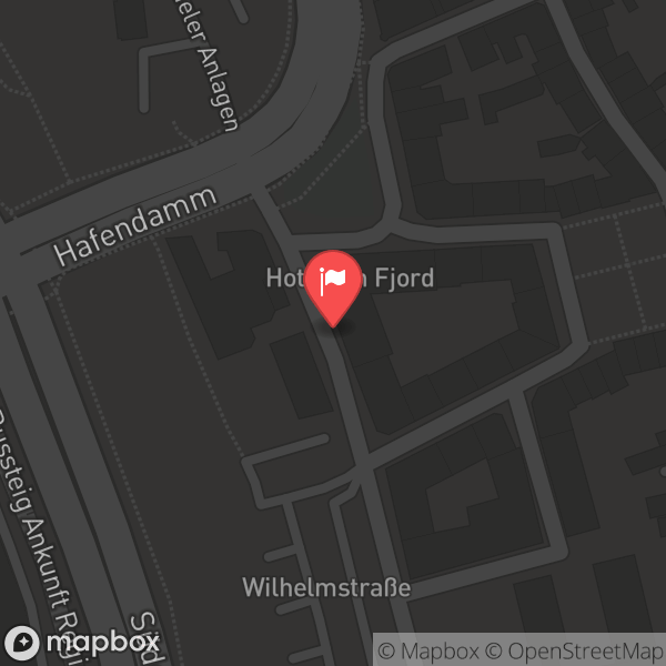 Landkarte/Stadtplan für: Ayun Hotel   Wilhelm Strasse 1, 24937 Flensburg