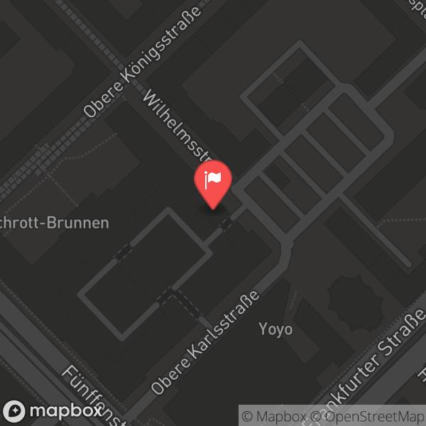 Landkarte/Stadtplan für: Bürgersaal im Rathaus   Obere Königsstraße 8, 34117 Kassel