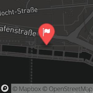 Landkarte/Stadtplan für: Silvester 2013/2014 im Hard Rock Cafe Hamburg | Bei den St. Pauli-Landungsbrücken 5, 20359 Hamburg