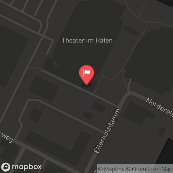 Landkarte/Stadtplan für: Theater im Hafen | Reiherstraße 6, 20457 Hamburg