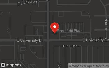 Map of 403 N Greenfield Rd in Mesa