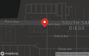 Map of 1545 Palm Avenue in San Diego