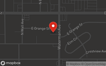 Map of 1150 N Waterman Ave in San Bernardino