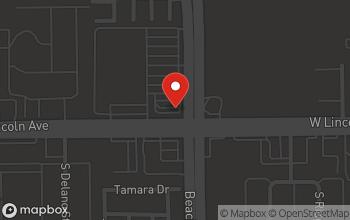Map of 105 North Beach Blvd. in Anaheim
