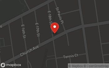 Map of 1801 Church Ave in Brooklyn
