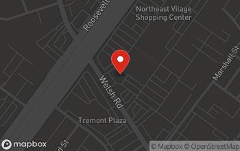 Map of 9173 Roosevelt Boulevard in Philadelphia