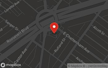 Map of 5427 Oxford Avenue in Philadelphia