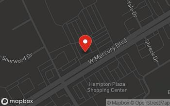 Map of 4022 West Mercury Blvd. in Hampton