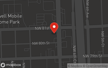 Map of 8080 NW 7th Ave in Miami