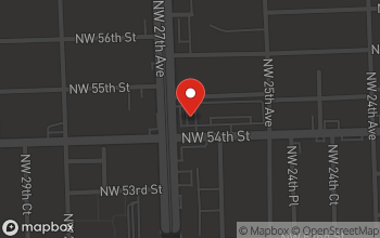 Map of 2695 NW 54th Street in Miami