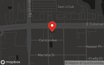 Map of 7604 E. Colonial Drive in Orlando