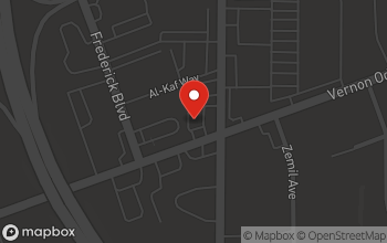 Map of 1345 Vernon Odom Blvd in Akron