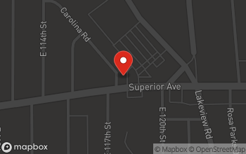 Map of 11701 Superior Ave in Cleveland