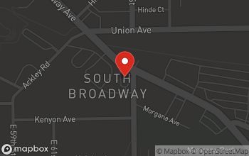 Map of 6430 Broadway Ave in Cleveland