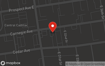 Map of 3040 Carnegie Ave in Cleveland