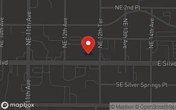 Map of 1239 E. Silver Springs Blvd in Ocala