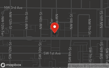 Map of 912 W. University Avenue in Gainesville