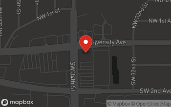 Map of 3325 W. University Avenue in Gainesville