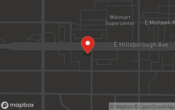 Map of 1615 E. Hillsborough Ave in Tampa