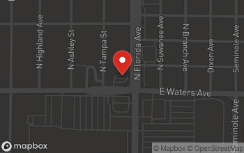 Map of 107 W. Waters Ave in Tampa