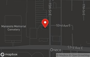 Map of 5220 15th Street E. in Bradenton