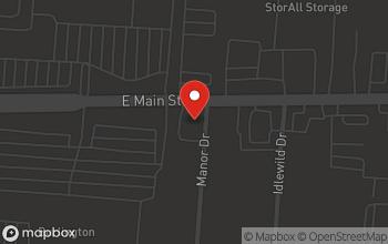Map of 6101 East Main Street in Columbus